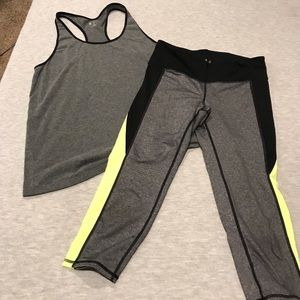 Gap active yoga pants & athletic tank